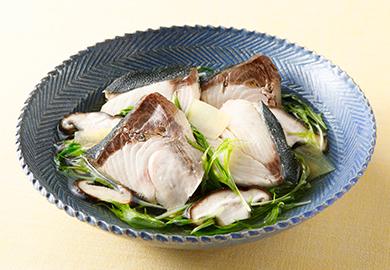 ぶりと水菜のさっと煮
