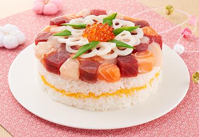 海鮮ケーキ寿司