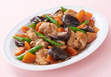 鶏肉と椎茸の中華煮