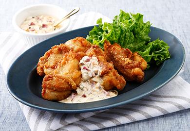 鶏のから揚げ しば漬けタルタルソース