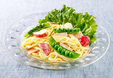 カレー風味のサラダスパゲッティ