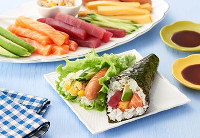 バラエティー手巻き寿司