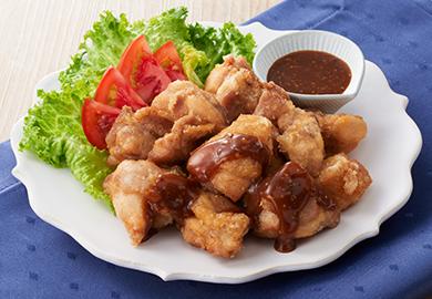 鶏のから揚げ 粒マスタードのとろみソース