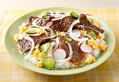牛カルビのスタミナちらし寿司