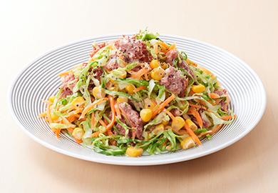 コンビーフとキャベツのコールスローサラダ