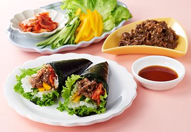 韓国風手巻き寿司