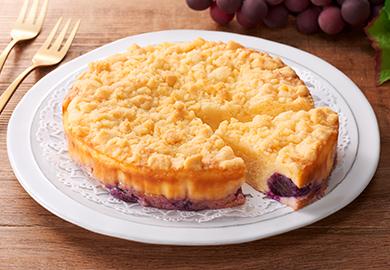 ぶどうのクランブルチーズケーキ