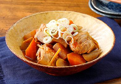 鶏肉と根菜の土手煮