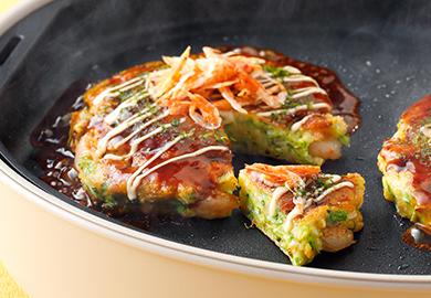 白菜と海鮮のフワッとろお好み焼
