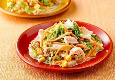 白菜とツナのコールスローサラダ