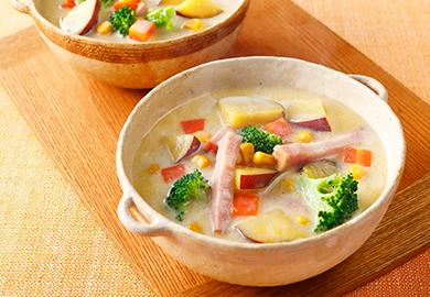 バター香るごま豆乳スープ