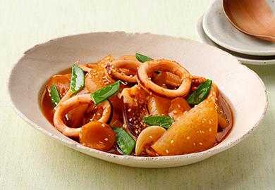 いかと大根の韓国風ピリ辛煮