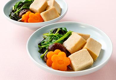 生わかめと高野豆腐の煮物