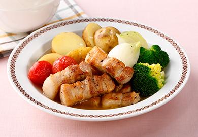 豚バラと春野菜の洋風煮込み