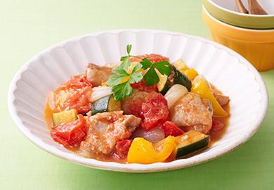 鶏肉と彩り野菜のラタトゥイユ