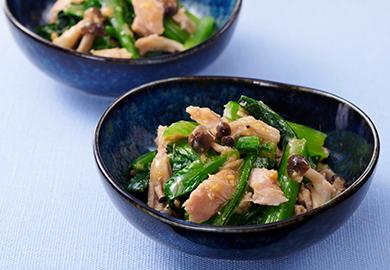 ツナと小松菜の酢味噌和え