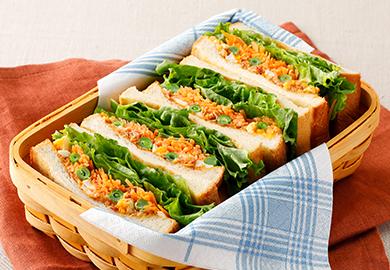 いんげんの和風たまごサンドイッチ