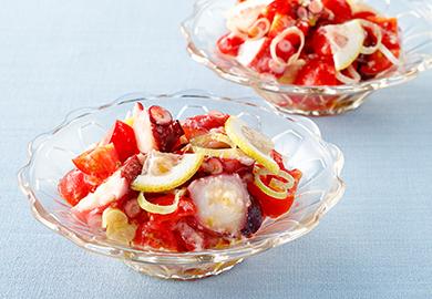 たこの塩糀トマトソース和え