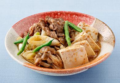 ごま風味の肉豆腐