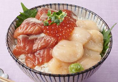 ルイベ漬け風 海鮮丼